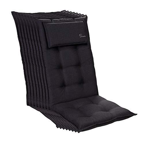 Homeoutfit24 Sylt - Cojín Acolchado para sillas de jardín,