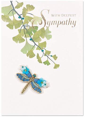 Papyrus Sympathy Cards Floral Dragonfly, 1 Each