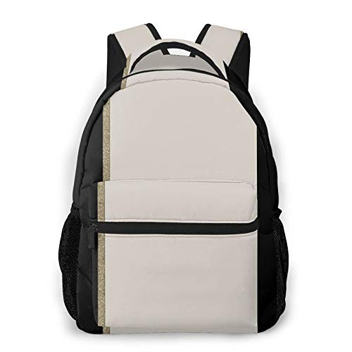 Frieneo Lightweight commuter backpack Gold line Large casual day backpack outdoor travel rucksack hiking unisex multifunctional backpack