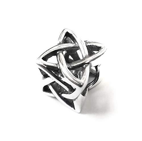 Moondrops Celtic Knot Square - Scottish - Irish - 925 Sterling Silver Charm Bead - European
