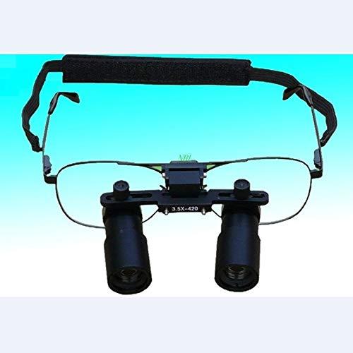 KANJJ-YU Gafas de Cirugía de 3.5X 4.5X 5.5X Profesional médico quirúrgico ENT lupas dentales 3X 4X 5X 6X 7X Kepler óptico de la Lupa Binocular LED (Magnification : 5X)