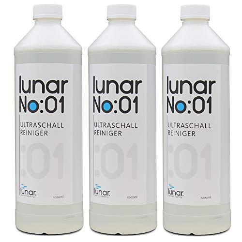 lunar. premium cleaning No:01 Ultraschallreiniger 3l Konzentrat für Ultraschallbad Brillen Metalle Schmuck Dentalprodukte Glas