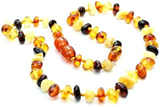 SilverAmber Genuine Baltic Amber Teething Necklace - Multi Colour - NE0029