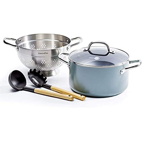 Greenpan, mayflower set de Batterie de cuisine antiadhésive en céramique - 9 pièces, Bleu ciel