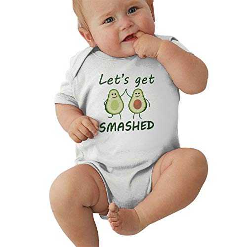 Avocado Let's Get Smashed Baby Boys Pijama Unisex Romper Baby Girls Body Infant Kawaii Jumpsuit Outfit 0-2t Niños,Blanca,0-3 Meses