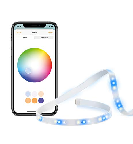 Eve Light Strip - Tira de luz LED inteligente, luz blanca de espectro completo y a color, 1800 lúmenes, no necesita centralita (Apple HomeKit)