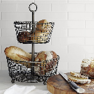 Bendt Tiered Iron Fruit Baskets | Crate and Barrel