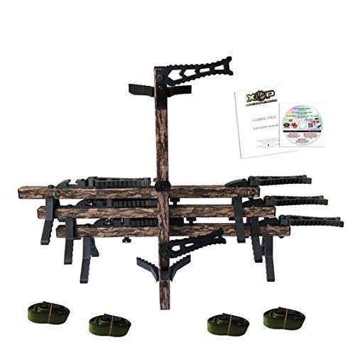 XOP-XTREME OUTDOOR PRODUCTS XOP Hunting Climbing Sticks for Treestands - Set of 4 - Two Step Sticks - Mossy Oak