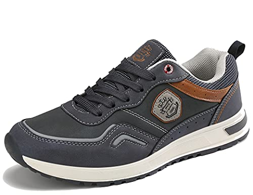ARRIGO BELLO Zapatos Hombre Vestir Casual Zapatillas Deportivas Transpirables Gimnasio Correr Running Sneakers Al Aire Libre Tamaño 41-46 (Azul, Numeric_46)