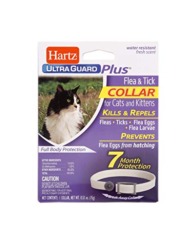 Hartz UltraGuard Plus Water Resistant 7 Month Protection Breakaway Flea & Tick...