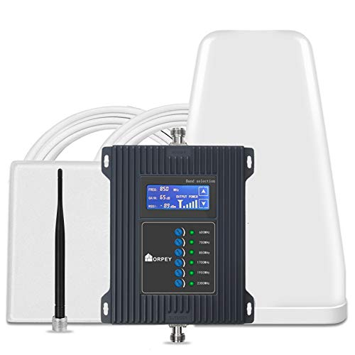 5G Cell Phone Signal Booster for Home & Office- Improves 4G LTE 3G GSM Signal for Verizon, AT&T, T-Mobile, Sprint - Multiple Band Repeater Band 2/4/5/12/13/17 for All US Carriers and Cellular Devices