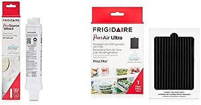 Frigidaire EPTWFU01 Refrigerator Water Filter, 1 Count, White & PAULTRA PureAir Ultra Refrigerator Air Filter, 6.5