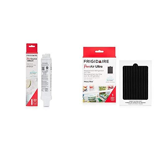 "Frigidaire EPTWFU01 Refrigerator Water Filter, 1 Count, White & PAULTRA PureAir Ultra Refrigerator Air Filter, 6.5"" x 4.75"""