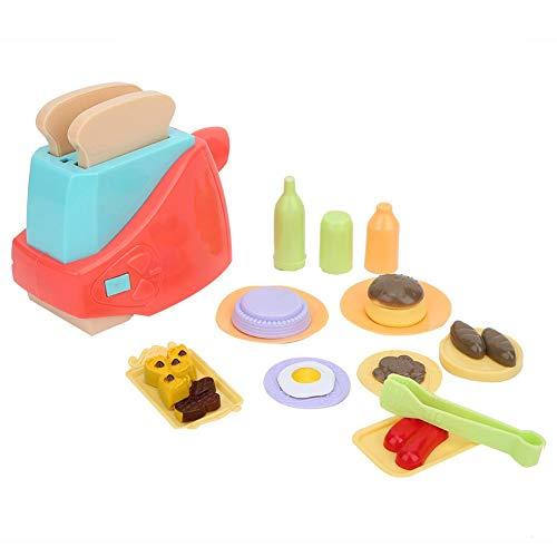Crisis Pretend Play Toy, Alimentado por una batería AA de 2 Piezas Toy Toaster para niños, Mini Kid Pretend Play Toy Set para Que jueguen los niños(Toaster)