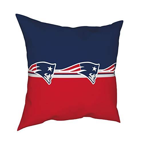 New England Patriots - Federa per cuscino per videogiochi, per videogiochi, decorazione per la stanza dei giochi, per la casa, il divano, la camera da letto, le feste, regalo divertente, 45 x 45 cm