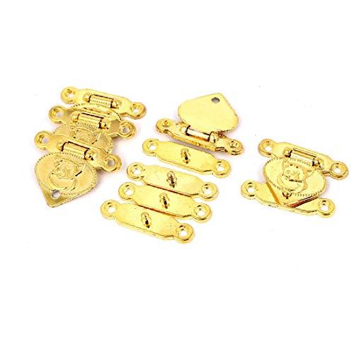 X-Dr 30mm x 38mm Metall Box Schubladenverschluss Haspe Verschlussdeckel Verschluss Goldton 5 stücke (3103146f25c039f679696ecd22864ca2)