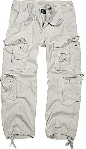 Brandit Pure Vintage Homme Cargo Pantalon - Blanc (Vieux Blanc 12), XL