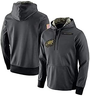 Dunbrooke Apparel Philadelphia Eagles Salute to Service Anthracite Hoodie for Men Women