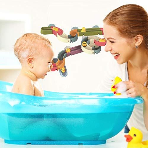 DIY Montiert Baby Bad Spielzeug Badewanne Spielzeug, 34 Teilelittel Gelb Duck Wasser Parktoys Wenig Gelbes Duck Rutsche Spiel Für Teddles Und Babys Für Kindertag Geschenk