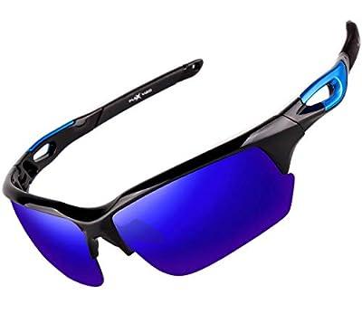 FLEX V2- Polarized Sunglasses for Men Women & Teens. Ultra Tough & Lightweight Frame, Anti-glare HD lens Sports Sunglasses for Cycling Running Fishing Golf Driving