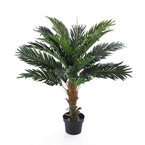 artplants.de Künstliche Kokospalme Kaleb, Palmfaserstamm, 90cm - Kunstpalme
