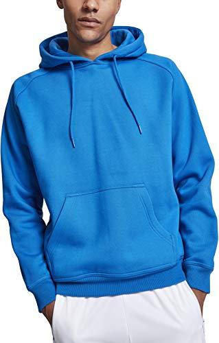 Urban Classics Herren Kapuzenpullover Blank Hoodie, Farbe cobalt blue, Größe 3XL