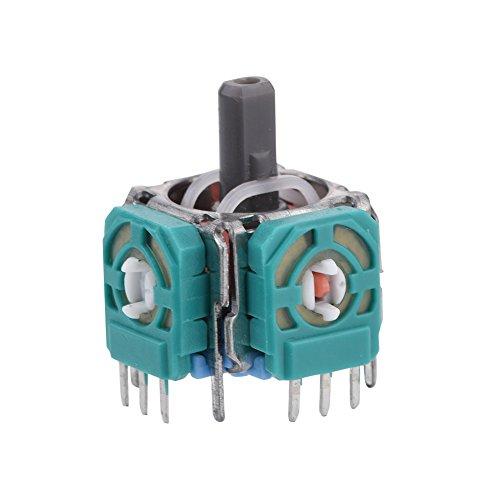 Lazmin 2 Stück Ersatz-Analog-Joystick, 3D-Thumb-Stick-Modul Wireless Controller Rocker für PS4-Controller