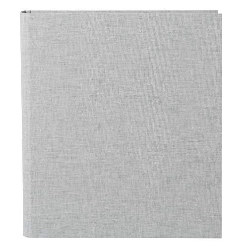 Goldbuch Bella Vista - Libro de anillas para fotos (26 x 32 cm, lino, 37), lino, gris claro, 26x32 cm