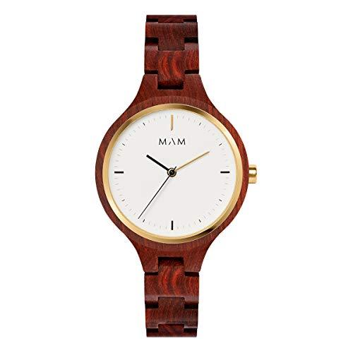 Mam relojes silt Damen Uhr analog Japanisches Quarzwerk mit Armband 608