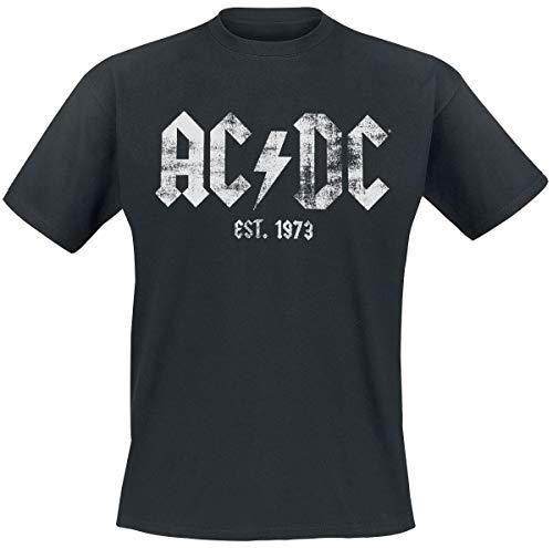 AC/DC Est, 1973 Männer T-Shirt schwarz XL 100% Baumwolle Band-Merch, Bands