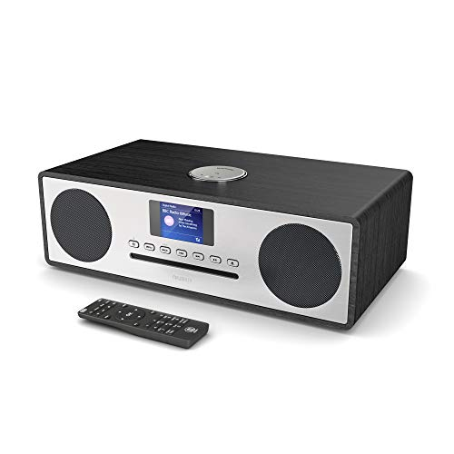 Majority Oakington Plus DAB/DAB+/FM Digitalradio - CD-Player - Bluetooth - Stereo-Lautsprechersystem - Fernbedienung - Doppel-USB-Eingang/Aufladung - AUX- und USB-Anschluss (Plus)