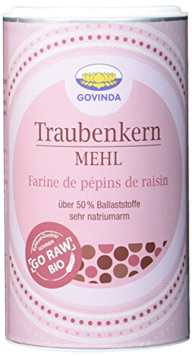 GOVINDA Traubenkernmehl Bio, 3er Pack (3 x 200 g)