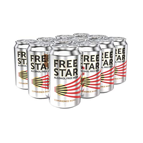 Freestar - Award winnende alcoholvrij bier (GF, V) 330ml x 12 blikken. Verfrissend Anders.