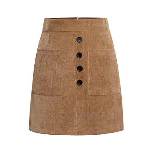 Salalook damesrok, chic, zakrok, met knoppen, eenkleurig, voor dames, lange rok, grote maat