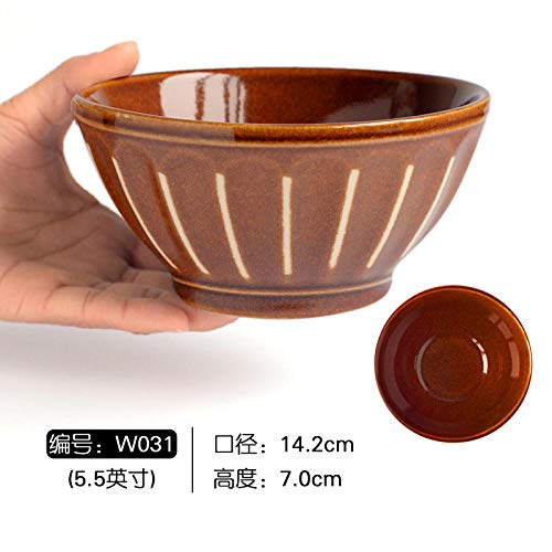 Creative Personality Tao Relief Sculpture Porcelain Bowl European Bowl Volkswagen Soup Bowl Ramen Bowl Fruit European Bowl Nordic Style-Chocolate W031
