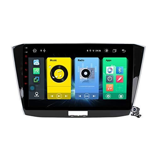 Android 10 GPS Navigation Stereo Radio para VW Passat B8 Magotan 2015-2018, 10,1' Pantalla Coche Media Player Soporte Carpaly/5G FM RDS/Control Volante/Bluetooth Hands-Free,7862: 6+128