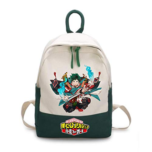 Boys Outdoor Backpack Kids School Bag Anime My Hero Academia Nylon Waterproof College Rucksack Fashion Casual Women Bookbag Boys Schoolbag Teenagers Durable Lightweight Backpacks