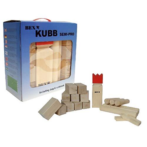 Kubb SEMI PRO, Turnier Kubb von Bex Schweden, große standsichere Kubbs