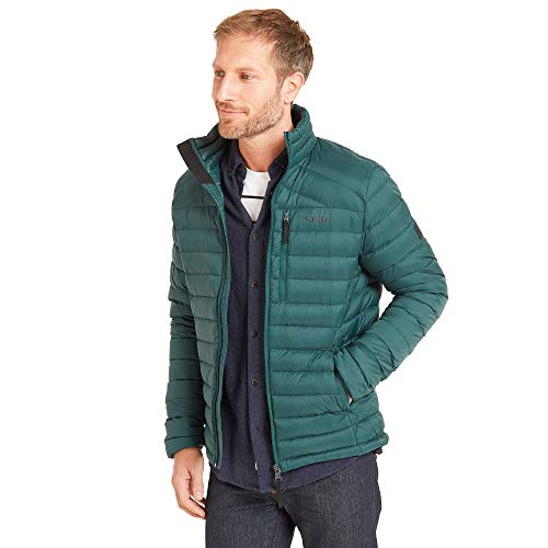 TOG 24 Base Mens Packable Down Jacket Lightweight Breathable Ultra Warm 800 Fill Power 90 Duck Down and 10 Feathers Soft Comfortable Casual Padded Stylish Coat Perfect for Travel Camping Hikes