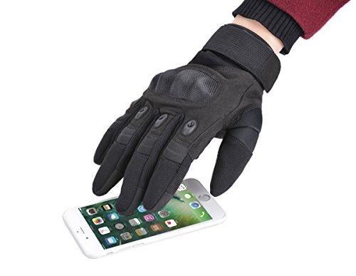 Coofit Taktische Handschuhe Winter Motorrad Handschuhe Herren Vollfinger Army Gloves Biking Skifahre Handschuhe (Schwarz, XL) - 6