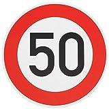 ORIGINAL Verkehrzeichen 50 KM/H Schild Nr. 274-55 Verkehrsschild Straßenschild Straßenzeichen Metall auch Gebutrtstagschild zum 50. Geburtstag als 50km Geburtstagsschild 42 cm Metall mit Folie-Typ1