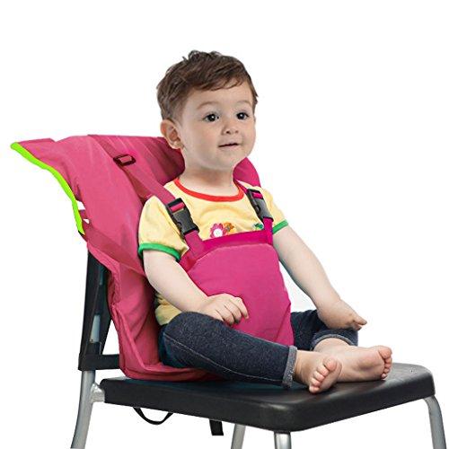 Baby Sitzbezug Reise Kleinkind Hochstuhl Sicherheits Gurt Tragbar Säugling Sack Gürtel,Rosa