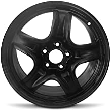 Road Ready Car Wheel For 2010-2012 Ford Fusion 2010-2011 Mercury Milan 17 Inch 5 Lug Black Steel Rim Fits R17 Tire - Exact OEM Replacement - Full-Size Spare