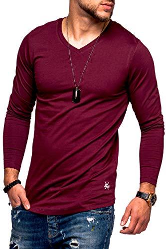 JACK & JONES Herren Langarmshirt Infinity Longshirt V-Neck T-Shirt Casual Basic (S, Port Royale)