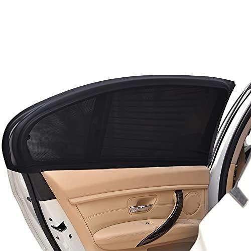 Uarter Auto Sonnenschutz Kinder Sonnenblende Auto mit UV Schutz Sonnenschutzrollo Auto für Seitenfenster Meshmaterial Schützt Mitfahrer, Baby, Kinder & Haustiere 2...