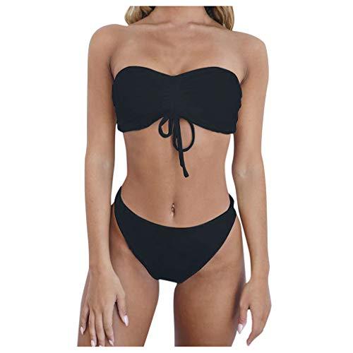 KEERADS Bikini Sets Damen Sexy Bademode Push Up Tube BH Bikinis Trägerlos Badeanzug Zweiteiler Strand Swimwear Swimsuits Beachwear