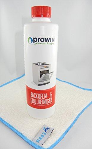 proWIN Backofenreiniger 500 ml mit Maxxi Clean Millionentuch Bambustuch