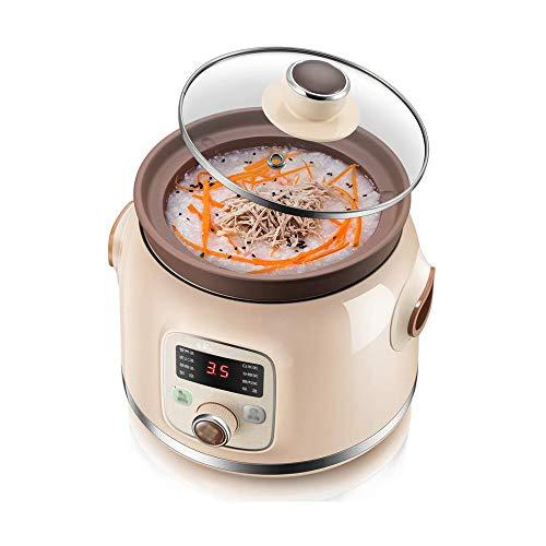 HnF Slow Cooker aus Edelstahl, Verbrühschutz und ovale Antihaftpfanne mit abnehmbarem Zylinder, programmierbar, multifunktional programmierbar, leicht zu reinigen, für die Küche geeignet