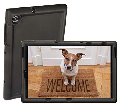 BobjGear Rugged Tablet Case for Lenovo Tab M10 FHD Plus 10.3 inch (TB-X606F, FA) Premium Washable Silicone, Kid Friendly, Shockproof (Bold Black)
