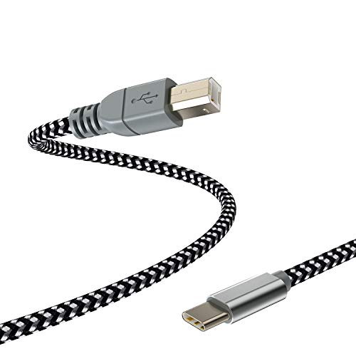 MIDI Cable for iPad Pro,USB C to USB B MIDI OTG Cord Type C Printer Cable for MacBook/iPad Pro/Samsung/Google/Laptop,Work with Electronic Music Instrument/Piano/Midi Keyboard